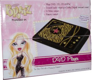 BRATZ the only girl with a passion for fashion Plugged in DVD Player with full function remote control (plays DVD, CD, CD-R/RW)