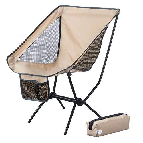 Canyon Cruise Moonchair Campingstuhl Camping-Hocker Moon Chair XXL Faltstuhl (Beige)