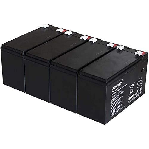 akku-net Blei-Gel Akku ersetzt Panasonic LC-R127R2PG 9Ah 12V (ersetzt auch 7,2Ah / 7Ah), 12V, Lead-Acid