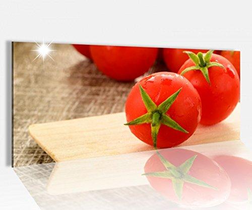 Acrylglasbild 100x40cm Tomate rot Tomaten Küche gemüse Obst Kochen Acrylbild Glasbild Acrylglas Acrylglasbilder 14A1617, Acrylglas Größe1:100cmx40cm