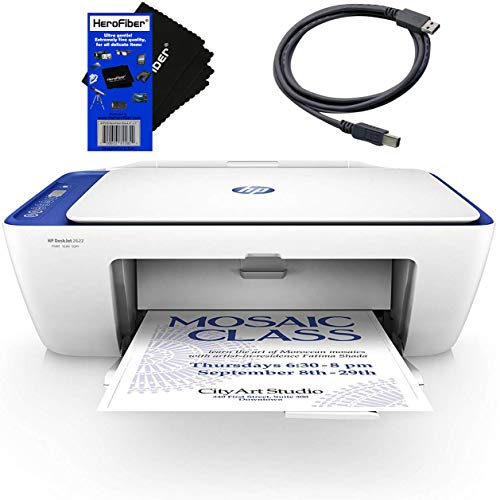 Buy HP Compact Printer All-in-One Wireless DeskJet 2622 with Copier & Scanner (White/Blue) + USB Cab...