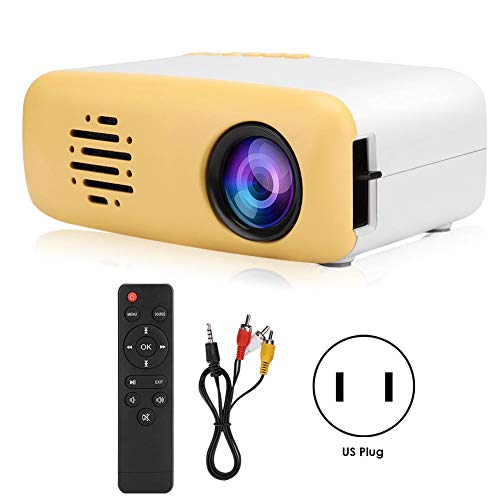 FastUU Mini Projector, Portable Projector LED Projector 1080P HD Multimedia Player Home Theater, Compatible with HDMI, AV, USB, for Children Present, Video TV Movie, Party Game, Outdoor (US)