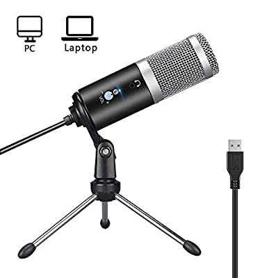 YWSS USB Recording Microphone,PC MicrophoneProfessional USB Condenser Microphone for PC/Laptop Plug & Play withTripod Stand for Studio Recording, Broadcasting and Gaming
