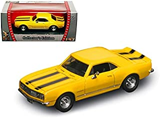 Road Signature Wholesale 1967 Chevrolet Camaro Z-28 Yellow 1/43 Diecast Model Car