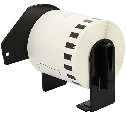 DK-22251 62 mm x 15,24 m Endlosetiketten Papier kompatibel für Brother P-Touch QL-800, QL-810W, QL-820NWB Etikettendrucker   Schwarz und Rot auf Weiß (Papier)