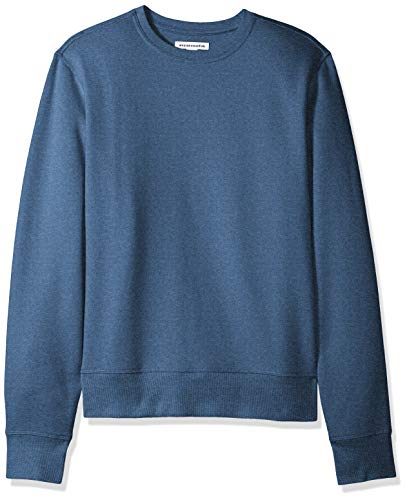 Amazon Essentials Men's Long-Sleeve Crewneck Fleece Sweatshirt, Blue Heather, Large