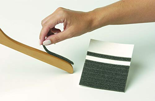 The Great American Hanger Company Dark Grey Adhesive Strips, Box of 100 Non-Slip Grips Compatible with All Hanger Types