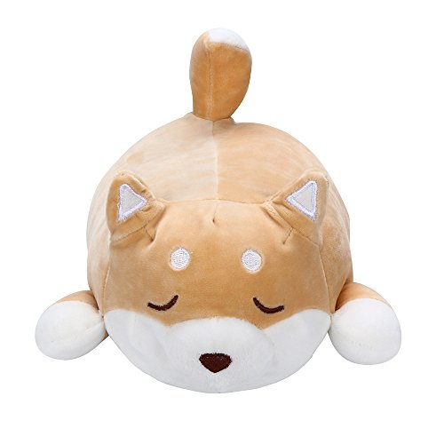 LAIYIFA Plush Toys for 3+ Year Old Cute Shiba Inu Doll Pillow Soft Waist Cushion Plush Stuffed Toy Birthday Gift for Boys Girls 3 4 5 6 7 8 9 Years Old, Home Decoration