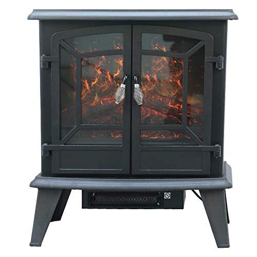Un calentadorUn ventilador de calefacción Chimenea eléctrica montada en la pared placa...