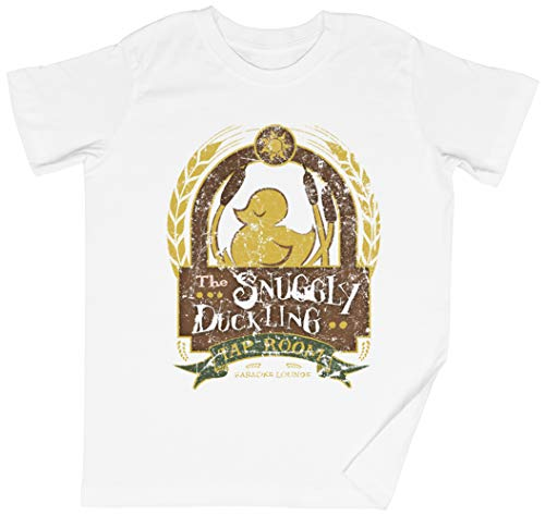 The Snuggly Duckling Blanca Niños Chicos Chicas Camiseta Unisexo Tamaño M White Kid's Boys Girls tee Size M