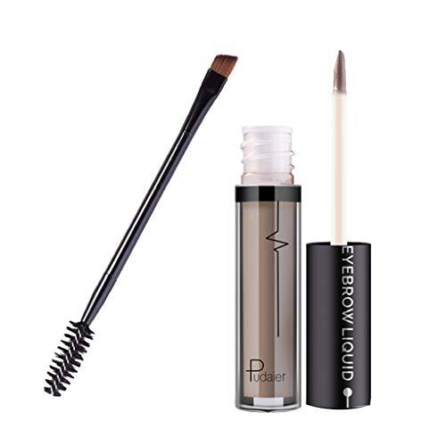 perfeclan Lápiz de Cejas Maquillaje Líquido Mascara Cejas Crema de Gel de Tinte para Cejas Impermeable Larga Duración - Gris claro