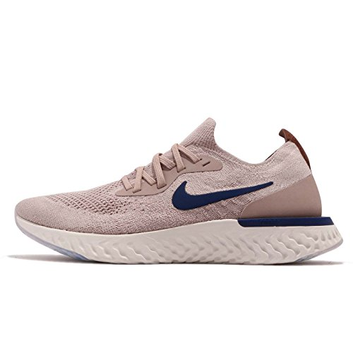 Nike Men's Epic React Flyknit Fitness Shoes, Multicolour (Diffused Taupe/Blue Void/Phantom 201), 9 UK