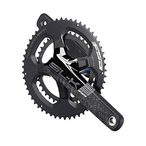 Full Speed Ahead - SL-K Series Carbon Light Double Crankset | BB386EVO Technology | for Road Bike | Shimano 10/11 SRAM 10/11 Speed Compatible | 34/50T 170 mm