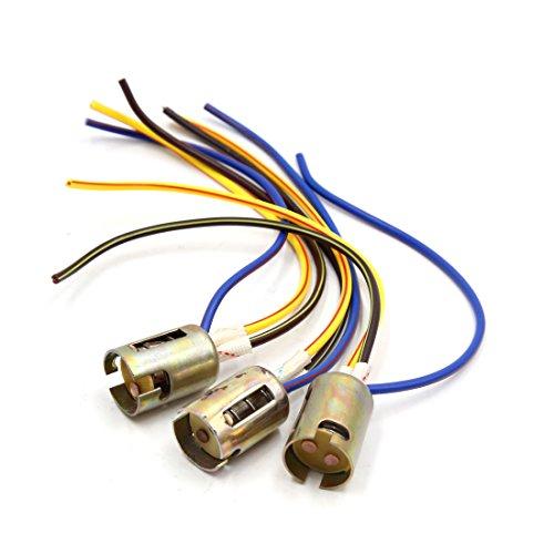 sourcing map 3pcs 1157 LED moto frein arrêt lumière extension fil support de connecteur connecteur