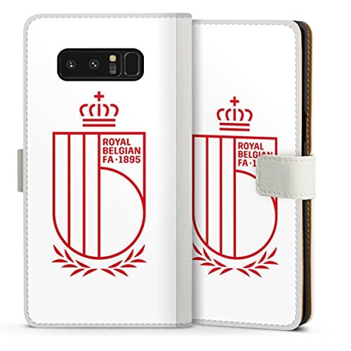 DeinDesign Klapphülle kompatibel mit Samsung Galaxy Note 8 Duos Handyhülle aus Leder weiß Flip Hülle RBFA Offizielles Lizenzprodukt Rote Teufel