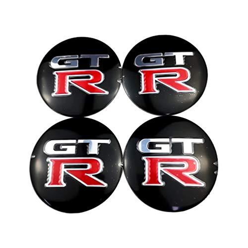 Para Nissan GTR Qashqai sylphy Lexus GT GS GX cubiertas centrales cubo rueda universales,cubiertas emblema insignia tapa cubo llanta rueda coche,accesorios diseño coche 4 piezas