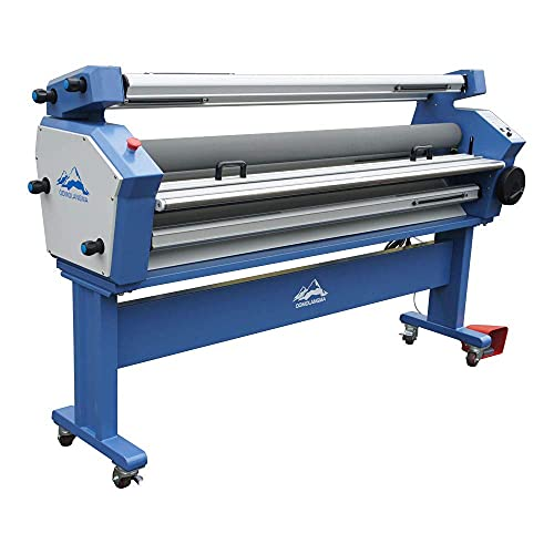 USA 110V 55in Full-auto Wide Format Cold Laminator Heat Assisted Large Format Laminating Machine with Trimmer and Stand
