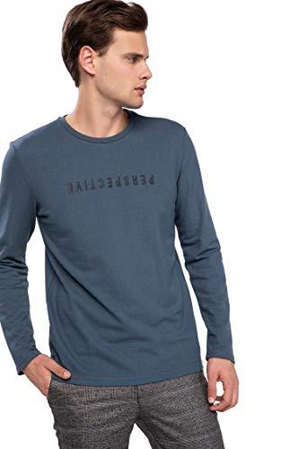 DeFacto Man Knitted Sweat Shirt Slim FIT Indigo K3238AZ IN161, Indigo, Gr.- XL
