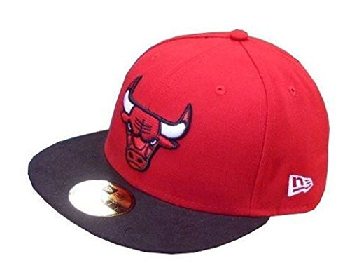 New Era Erwachsene Baseball Cap Mütze Nba Basic Chicago Bulls 59Fifty Fitted, Rot, 6 7/8, 10861624