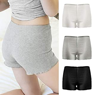 Festnight Trunks,Women Solid Panties Shorts Ribbed Stretch Safety Underskirts Underpants Underwear Ladies Intimates Lingerie