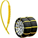 Jeremywell 10 PCS Emergency Anti-Skid Mud Snow Survival Traction Multi-Function Car Tire Chains Security...