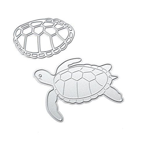 Whitelotous Tortoise Carbon Steel Cutting Dies Handmade DIY Stencils Template Embossing for Card Scrapbook Craft