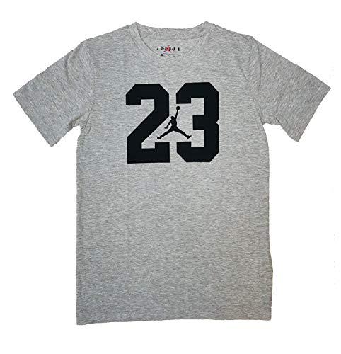Nike Air Jordan Boys' 8-20 Jumpman Cotton T-Shirt (Grey/Black, Medium)