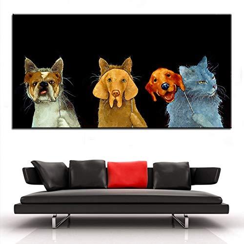 Puzzle 1000 Piezas Pinturas Art Deco de Perros y Gatos Puzzle 1000 Piezas educa Gran Ocio vacacional, Juegos interactivos familiares50x75cm(20x30inch)