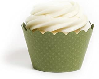 Dress My Cupcake Standard Olive Green Cupcake Wrappers, Set of 12