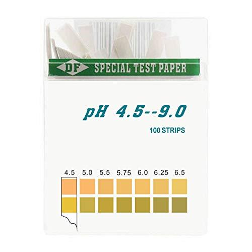 DF, Speciality Paper, strisce di carta test pH per urina e saliva, accurato e preciso, 100 pezzi