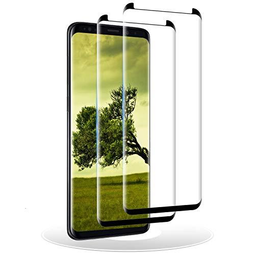 RIIMUHIR Cristal Templado para Samsung Galaxy S9 Plus, [2 Piezas] Protector de Pantalla para Samsung Galaxy S9 Plus, Vidrio Templado, 3D Cobertura Completa, Sin Burbujas, Anti-Rasguños