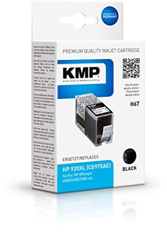 KMP Druckerkartusche Kompatibel HP 920XL (CD975AE) - Tintenpatrone Schwarz für: HP 920XL - HP Officejet 6000, 6500, 7000 H67