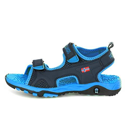 Trollkids Kinder Orrestrand Sandale, Marineblau/Mittelblau, Größe 38