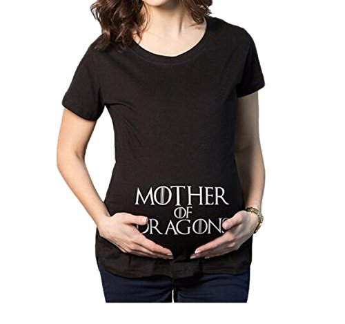 OUCHI Crew Neck Short Sleeve Top Tee Mother of Dragon Print...