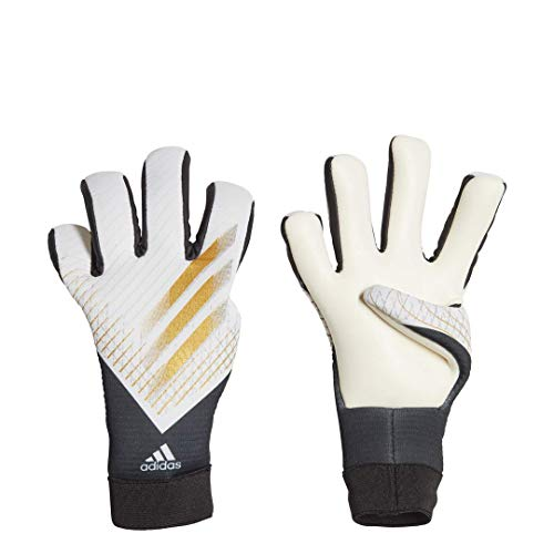 adidas unisex-youth X20 Goalkeeper Gloves Grey/Gold Metallic/Silver Metallic 6