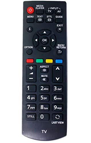 ALLIMITY N2QAYB000816 Fernbedienung Ersetzt für Panasonic Viera TV TX-32A400B TX-32A400E TX-39AW404 TX-50AW404 TX-L24XM6B TX-L24XM6E TX-L32B6E TX-39A400B TX-L19XM6B TX-L19XM6E