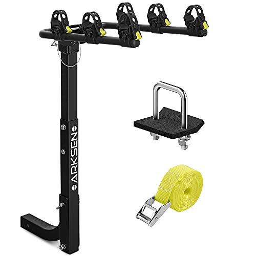 Arksen Premium 3-Bike Carrier Rack Hitch Mount Swing Down Bicycle Rack With 2-Inch Receiver