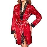 Wolfleague Lingerie Sexy Erotique Femme Coquine Femmes Sexy Longue Kimono De Soie Robe De Robe...