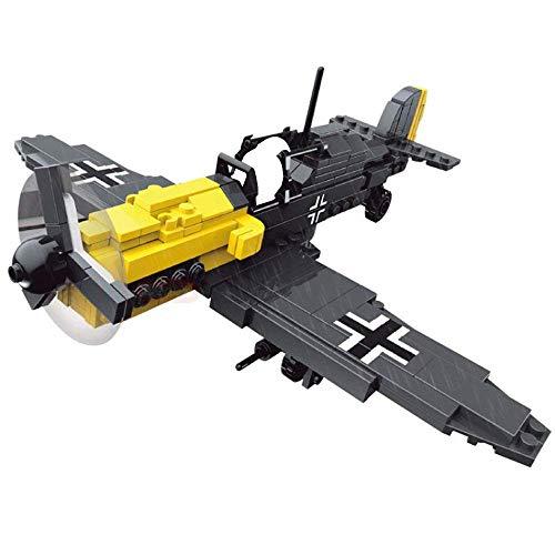 Bausteine Flugzeug Jagdflieger Messerschmitt BF-109 inkl. Pilot Minifigur 286 Teile