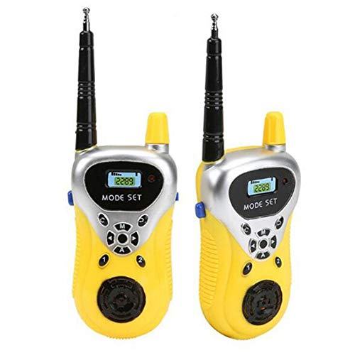 Walkie Talkies Para Niños-Juguetes Para Niños Walkie Talkie Niños Padres Interactivo Juegos Al Aire Libre Interphone Gifts Juguetes 3 Colores Avaliable Fun Toy 2 Pack,Yellow
