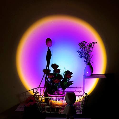 LTJT-MR Sonnenuntergang Projektion LED-Licht, Roboter Figur Regenbogen Bodenständer Moderne Romantische Lampe USB Aufladen Nachtlicht für Schlafzimmer Romantischen Projektor Geschenk