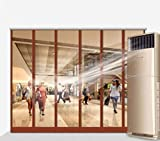 Risareyi Plástico Cortina de Puerta - PVC Transparente a Prueba de Viento Cortina, for Taller, Garaje, Mascotas, Puerta Industrial almacén Comercial Cortina de Tiras (Hardware Incluido)