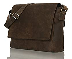 LEADERACHI Hunter Leather 20 Ltr Dark Brown Messenger Bag,LEADERACHI,2013-01