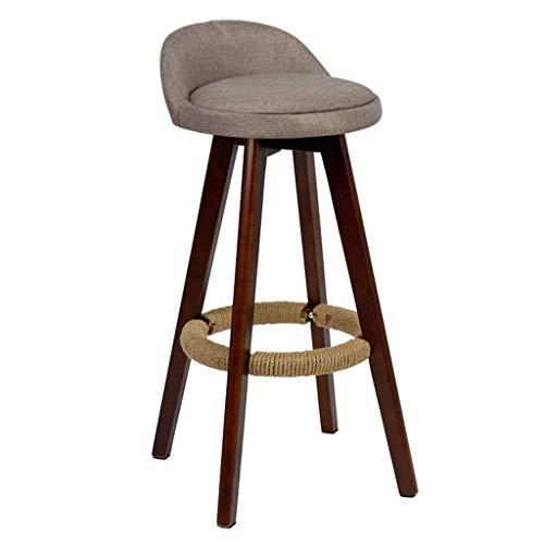 MTCGH Stühle, Hochstühle, Barstühle, Hocker Vintage Swivel Bar Hocker Stühle Höhe Fußstütze Essenszähler Frühstück Cafe Küchentextil Polster, Rutschfest,# 2.