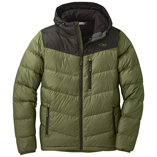 Outdoor Research Transcendent Hooded Down Jacket - Men's Seaweed/Forest, S