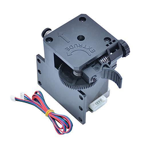 Leeofty Zusammengebautes -Extruder-Kit für 3D-Upgrade-Teile mit Schrittmotor und Kabelunterstützung Weiches Filament drucken Kompatibel mit X5SAPRO / X5SA-400 / D01 / X5SA-400PRO / X5SA-500