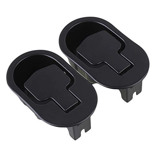 11.2x6.6x3.8cm Asiento reclinable negro Silla Sofá Asidero de la palanca de liberación Dos orificios en la parte inferior Paquete de 2