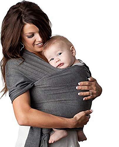 Tragetuch aus Baumwolle und Elasthan, leicht elastisch, für Babys, ab der Geburt, für Säuglinge, Neugeborene, multifunktional, für Stillzeit [ein Bob in Geschenk]