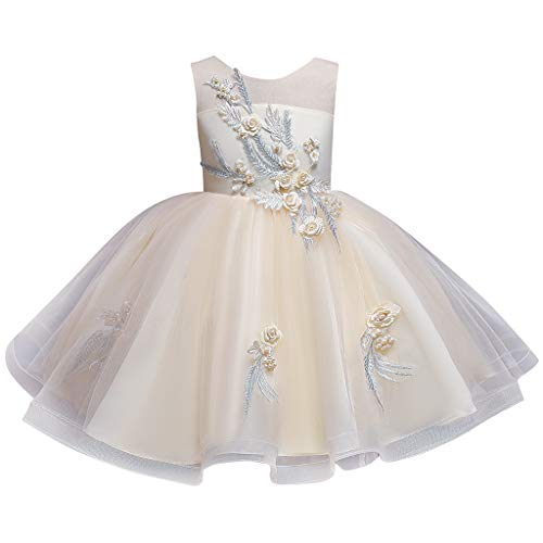 LuckyGirls Dress Elegant Girl Princess Party Dresses Birthday Girls Girls Dresses Bride Casual Ball Dress Sleeveless