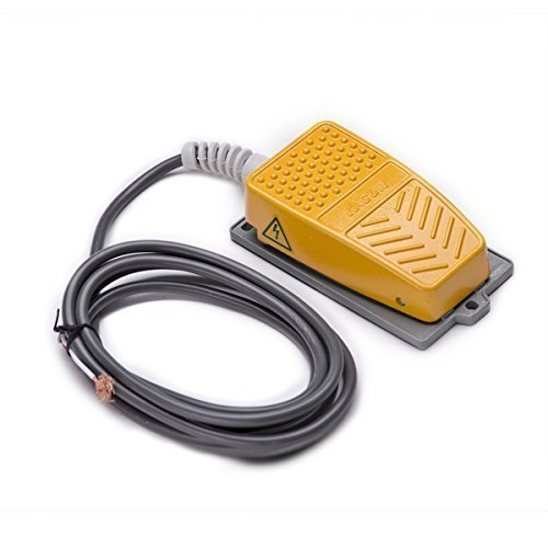 QLOUNI Industrial interruptor de padal interruptor de pedal botón 250V 10A del pie